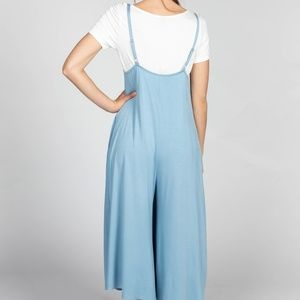 85b5efaa3794 Agnes   Dora Pants - Agnes and Dora Gathered V-neck Jumpsuit Steel Blue